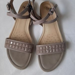 Ecco taupe sandals, size 39, fits 8.5 - 9